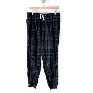 Gap | Navy and Green Flannel Jogger Pants